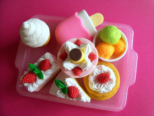 Miniature Japanese Toy Eraser Desserts (2)