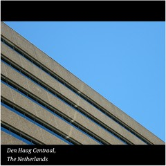 Den Haag Centraal : Train station : In the heart of the city of The Hague, The Netherlands : WORLD : SENSE : Beautiful lines! Enjoy! :) (|| UggBoyUggGirl || PHOTO || WORLD || TRAVEL ||) Tags: girls summer people sun holland art lines statue museum architecture modern facade see modernart candid room thenetherlands culture tram bluesky denhaag historic explore eat trainstation enjoy views gemeentemuseum thehague hoftoren aerlingus centralstation urbanlandscape centraal discover denhaagcentraal desindes luxurycollection classicart travelaroundtheworld irishlove urbanstyle irishpride irishluck thehaguecentralstation dutchtrains urbanunderstanding happytimesahead trainfromamsterdam desindeshotel highestbuildinginthehague secondhighestbuildinginthenetherlands smilesalways weshalldiscovertheworld thehaguetrainstation thehaguecentraal centraalfacade
