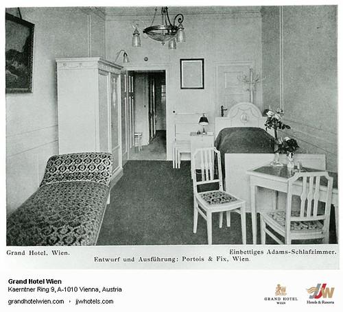 Historic Photo - Adams Schlafzimmer at Grand Hotel Wien in Vienna