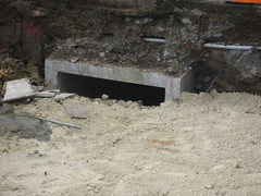 Mysterious culvert leading under Brougham Street (Marcus Wong from Geelong) Tags: construction geelong broughamstreet transportaccidentcommission tacbuilding