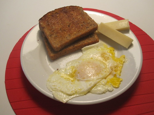 eggs, toast, cheese