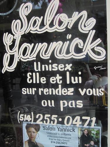 Salon de coiffure sur Sainte-Catherine