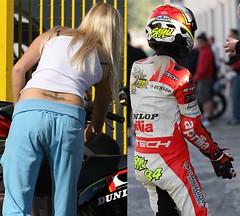 Cute female sportbike racedriver (bushati.jonida) Tags: woman leather female suits helmet gear motorcycle suitedup