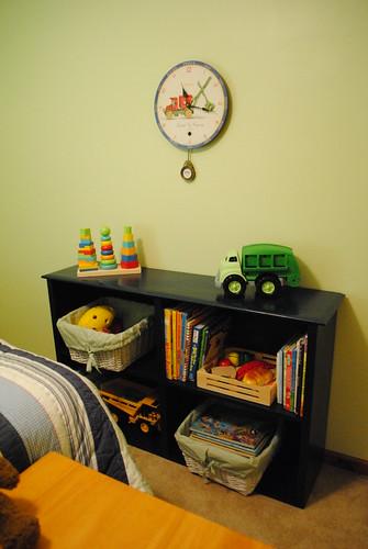 Bennett's toy shelf