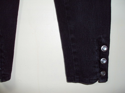 High Waisted Black Jeans Close Up