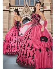 pink quinceanera (Sabrina Satin1) Tags: feminine transvestite crossdresser effeminate ballgown crossdressingfantasy