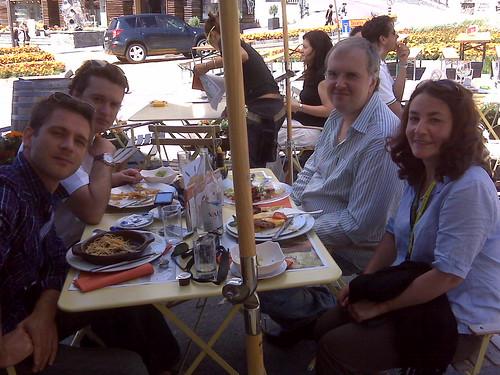 With Nicholas Angelich & 2 of Ebene Quartet, Verbier
