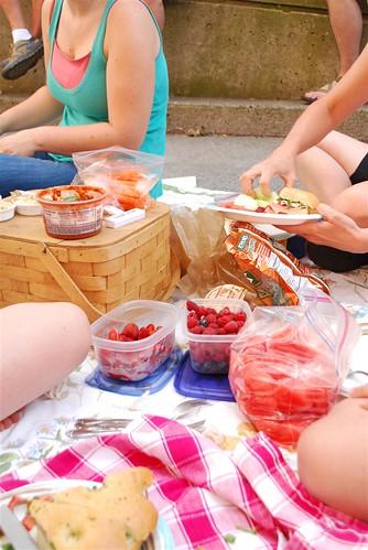 Tailgate picnic