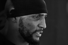 Ray Lewis - Baltimore Ravens (crabsandbeer (Kevin Moore)) Tags: portrait bw sports football nfl baltimore athlete ravens 52 linebacker raylewis
