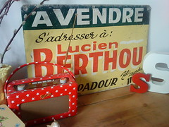 French 'For Sale' sign (prettyshabby) Tags: old red sign yellow vintage advertising french tin graphics forsale s 1950s 1960s avendre cathkidston architechturalantiques prettyshabby
