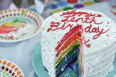 cutting into the cake (girlhula) Tags: plus rainbowcake superepic 39things avas10th