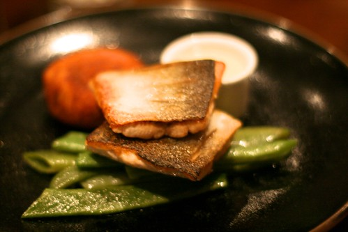 The Ginger Dog - Wild sea trout with runner beans and crispy potato cake (approx £16.00)