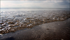 Bubbles (A blond-Tess) Tags: ocean light summer beach water coast shoreline bubbles ayr redfilter ayrshirecoast