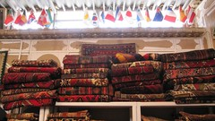 Flags in carpet store