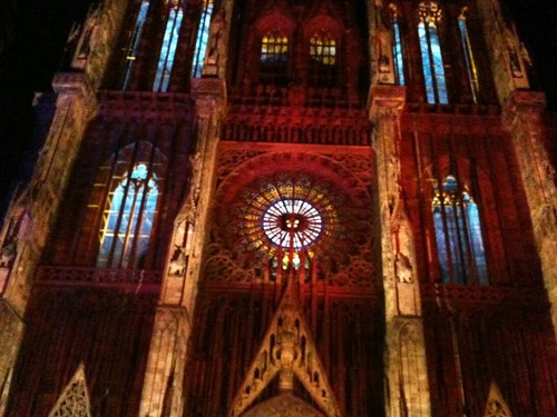 Sound and light show at Strasbourg Cathedral