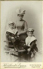 Antique Photo Album: Mother and sons (Antique Photo Album) Tags: photo antique album