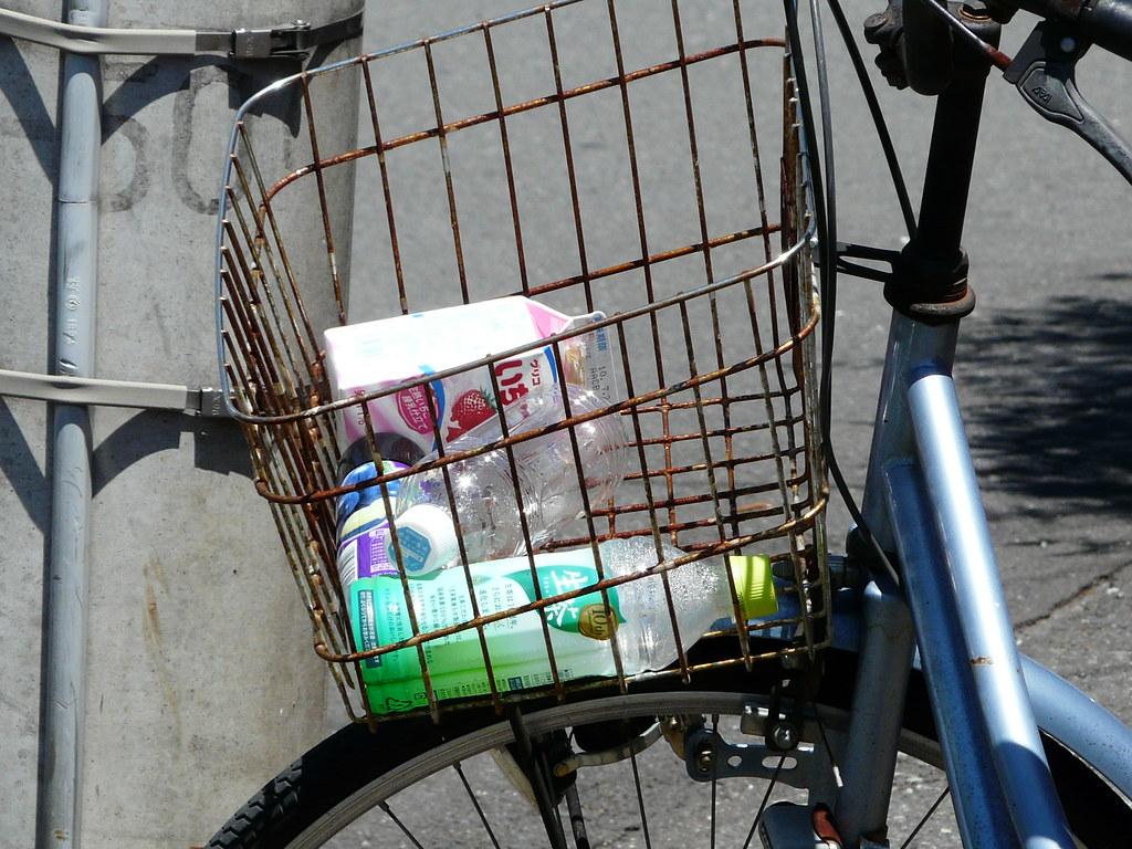 Bicycle Basket Rubbish Bin