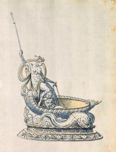 011-Objeto decorativo-Entwürfe für Prunkgefäße in Silber mit Gold-BSB Cod.icon.  199 -1560–1565- Erasmus Hornick
