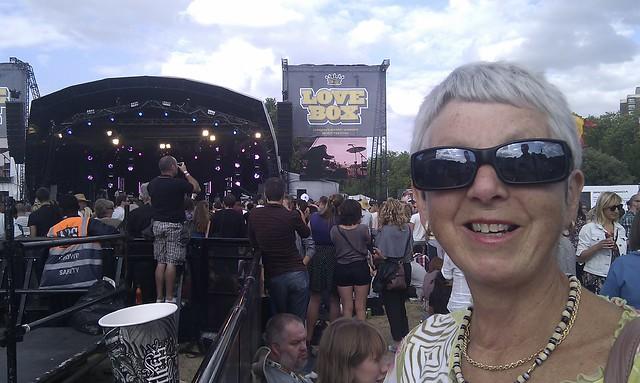 mum at lovebox victoria park july 2010