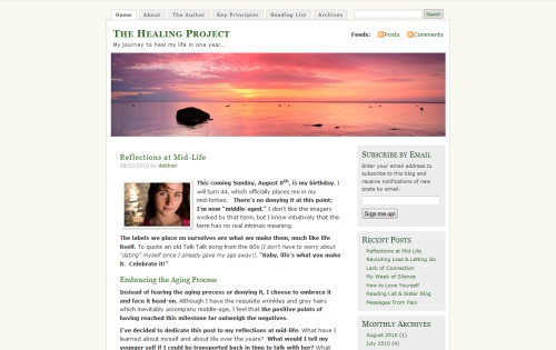 The Healing Project blog