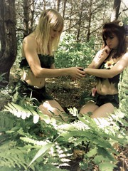 Caring. (Kristi Frzier) Tags: girl leaves forest woodland fairy aid mystical fairies wonderland creature healing magical cure helping curing