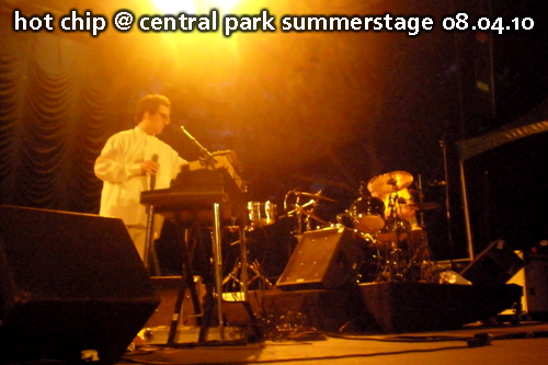 Hot Chip at Central Park Summerstage, August 4, 2010