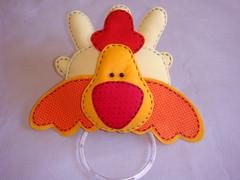PORTA PANO DE PRATO (sonia parreiras) Tags: pano feltro prato galinhas