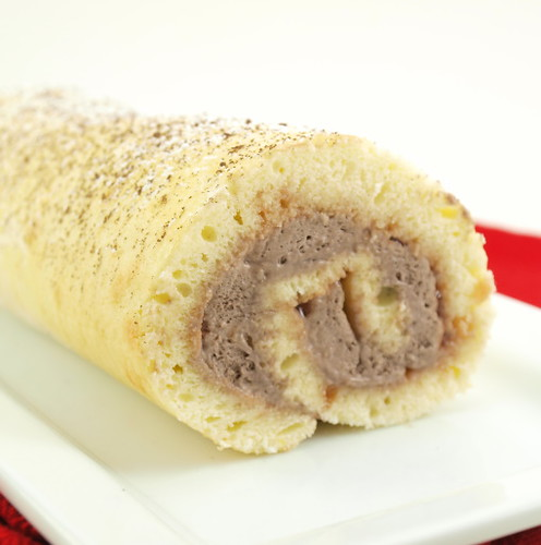 Japanese Shortcake Jelly Roll with Chocolate Whipped Cream