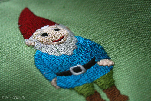 Embroidered Gnome from Cupcakes & Cartwheels Tote