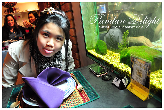 Pandan Delight: Next to Fish Tank