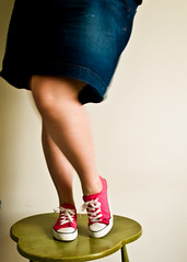 There is a bit of insanity in dancing that does everybody a great deal of good. (Meg.M) Tags: pink table fun happy shoes dancing legs saturday chucks hcs dancingfeet