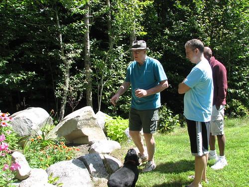 tut giving his garden tour
