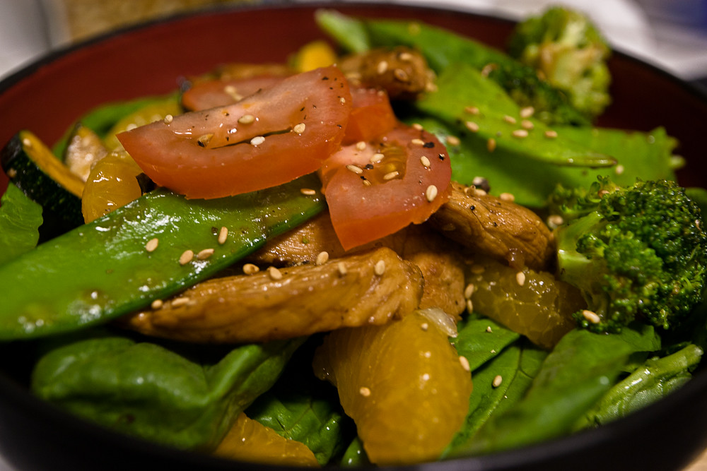Chicken Stir-fry salad