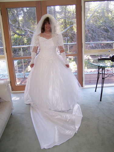 Tranny in wedding dress
