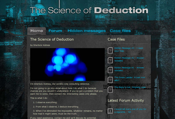 Sherlocks Site - The Science of Deduction