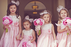 Our Flower girls: Hannah, Anabelle, Julia, and Megan