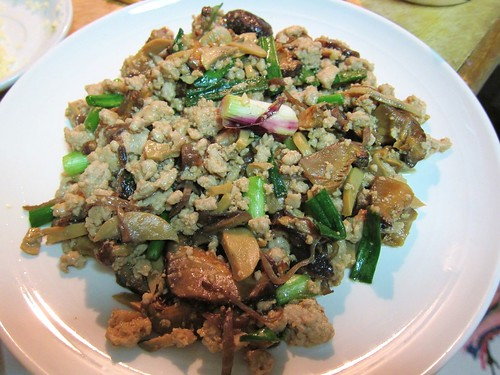 Sauteed minced Pork for Bak Kut Teh