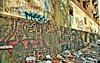 Wall Design|The broken building (vineetsuthan) Tags: old color building broken wall design dubai letters down saturation nikkor sharjah hdr vineet writings architecutre d90 18105mm nikond90 vineetsuthan