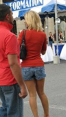 BLONDE IN BLUE JEANS SHORTS (roberthuffstutter) Tags: fringe images shorts positive bluejeans cuties sexywomen jeanshorts upbeat nicelegs legslegslegs finelooking sexyfashions blondehairstyles huffstutter sexappealplus flickrunitedaward qtease joyfulimages visualjoy blondeinbluejeanshorts blondeinshorts ffpo freefrompoliticalopinion huffstuttersworkinflickrgalleries myworkingalleries moderatesetting