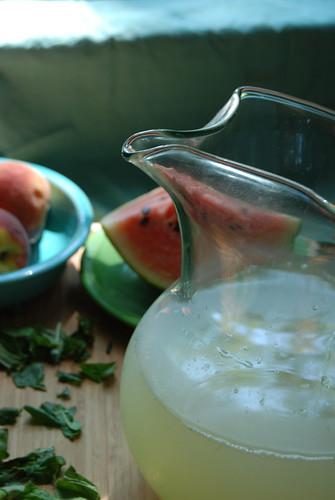 Making Basil Lemonade