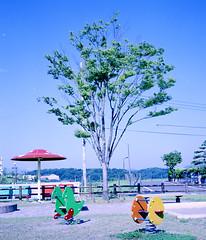 park (hiro-kazu) Tags: park sky 120 film landscape tokyo 6x7 plaubel plaubelmakina67 makina67