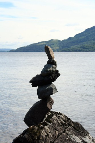 Rock Balancing at Loch Lomond