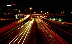 Rush (MrsNodders) Tags: city night lights dallas highway lighttrails 18250mm