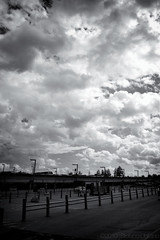 We were there (Stefano/6884) Tags: street sky blackandwhite bw clouds canon parking 400d canoneos400d