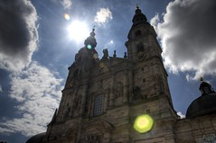 Cathedral of Fulda with Sun, Fulda, Hessen, Germany