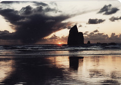 here it comes (wolf8_us) Tags: sunset travels oregoncoast cannonbeach