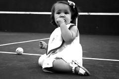 ayybaybaay emmaa (megan.elizabeth.) Tags: baby ball court hair tennis bow