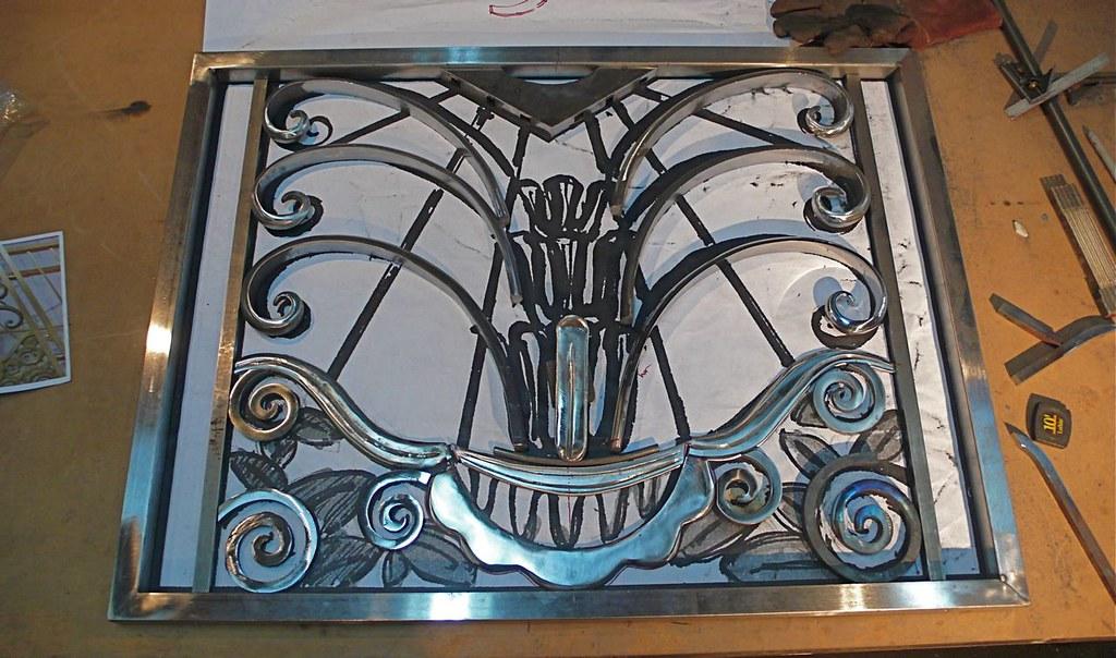 French Art Deco Fireplace Screen :: in progress