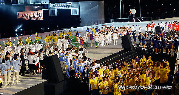 The athletes from around the world made the stage very colourful