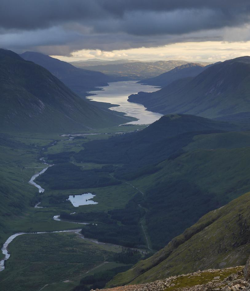 Glen Etive and Loch Etive from Buachaille Etive Beag.